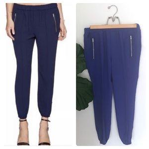 Joie Charlet Blue Crop Zip Ankle Jogger Pants!